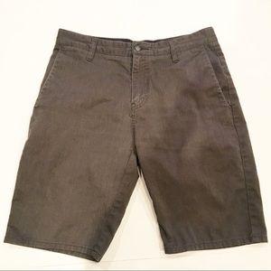 Volcom Flat Front Gray Casual Shorts